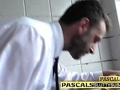 Fetish slut throats dick