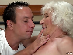 Horny granny Norma enjoys getting fucked by a handsome guy