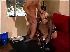 Alexis Malone in stockings having her pussy fingered then smashed hardcore