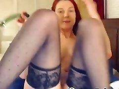 Horny Redhead Vibrator Masturbation
