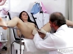 Nasty aged gynecology slurps the vag of a nubile angel