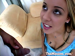 After a blowjob Delilah Strong is ready to put hard shaft in her cuntt