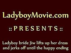 Ladyboy Bride Jekring Off