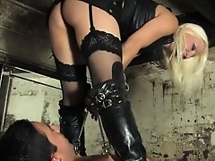 Bondage pissing treatment for worthless sub
