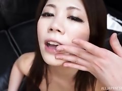 Hardcore titjob and a blowjob with a cumshot for Japanese Torii Miki