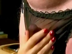 Cock in panties 1