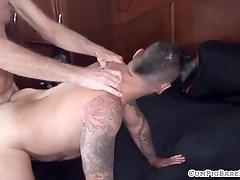 Polar bear plows tight ass in bareback couple