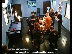 Video compilation of tempting German porn stars with gorgeous bodies enjoying hardcore gang sex