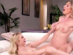 Chloe Cherry enjoys scissor sex wtith stepmom Cory Chase