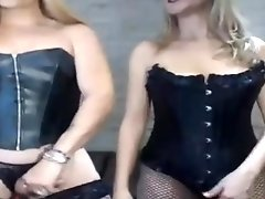 Blonde Shemale Eating her Blonde Girlfriend Pussy