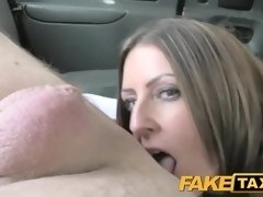 Bitchy damsel is deepthroating a cab driver's fuck-stick, instead of providing him cash for the rail