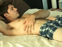 Hairy gay rimjob and cumshot
