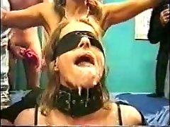 blindfold bukkake