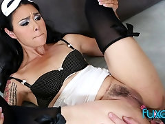 Dana Vespoli kinky anal submission with cumeating ending