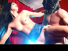 Megan Coxxx gets naughty as she fucks in a latex skirt