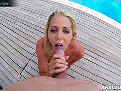 Christen Courtney wants to get fucked beside the pool outdoors by Just ANAL powered by Only3x