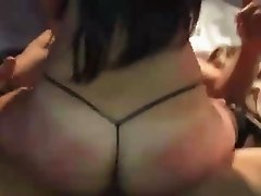 Wife gangbanged and hubby films