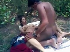 Indian couple sex in park