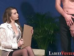 Mistress fingers pussy