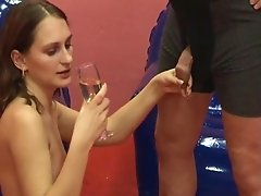 She sucks and drinks pee for fun