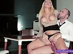 Horny Secretary gets fuck at the office