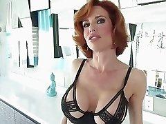 Sexy Veronica flashes boobs to seduce Rocco into p