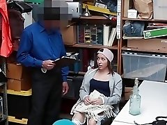 Security Officer Fucks Sexy Teen Thief In Exchange For Pardon