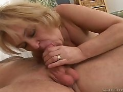 Wild granny with a hairy pussy enjoying a hardcore cowgirl style fuck
