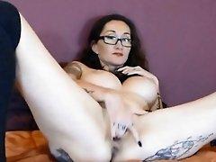 French busty MILF Karol_Kustom fucks her holes ALIVEGIRL