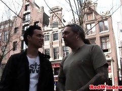 Amsterdam hooker fingered and doggystyled