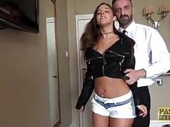 Slutty girl loves maledom sex with a dominant BDSM fucker