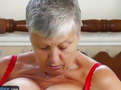OldNannY Amateur Lesbian Grandmas Compilation