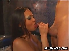 Smoking hot Nyomi Zen is ass fucked brutally by a stranger