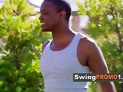 Swingers play a take clothes off game