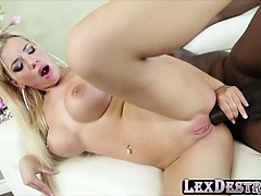 Blondie big tits Bibi Noel gets destroyed by Lexington Steel