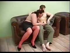 Hot Russian milf fuck with her sons friend of