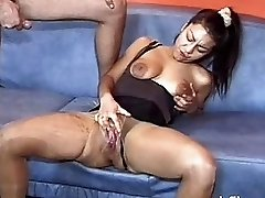 Extreme fist fucked slut showered in piss and sper