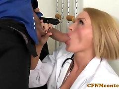 CFNM nurse Krissy Lynn gang bang-out act