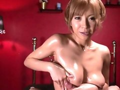Oiled Up Teen Sumire Matsu Sucks Dick In - More at