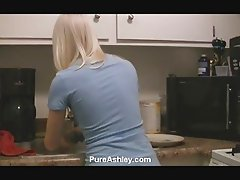 Ashley kitchen sink masturbation