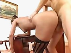Lusty kitty on the table