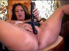 Mature wife having fun with dildo 2