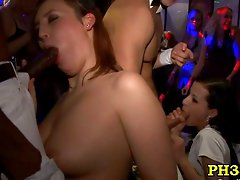 Ladies sucking black &amp; white cocks