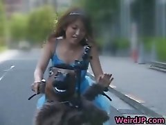 Anri Hiramatsu Asian hottie rides part1