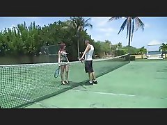 Tennis players take a break and fuck